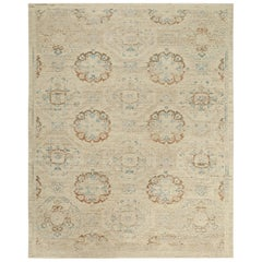 Nazmiyal Collection Geometric Beige Rust Modern Boutique Rug 10 ft x 14 ft