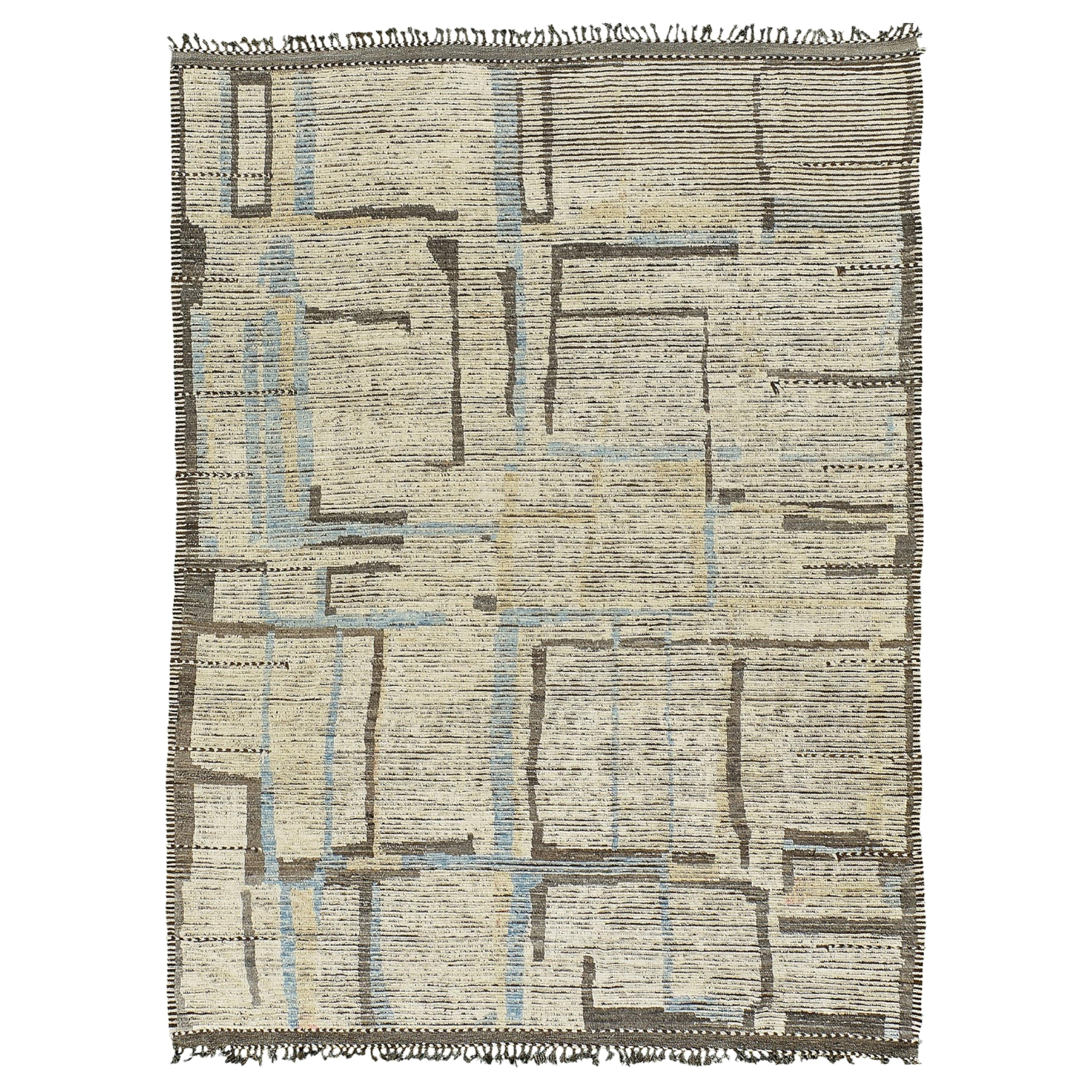 Nazmiyal Collection Geometric Modern Distressed Area Rug 9 ft 9 in x 13 ft 6 in