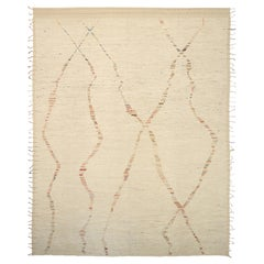 Nazmiyal Collection Geometric Modern Distressed Rug. 13 ft 5 in x 16 ft 11 in