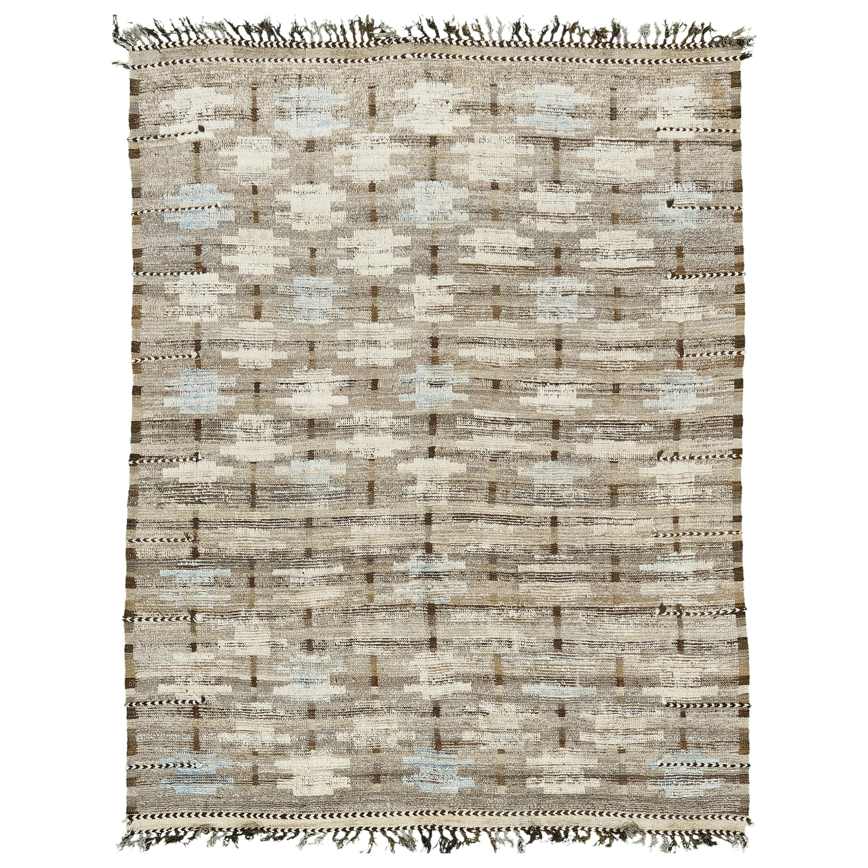 Nazmiyal Collection Geometric Modern Distressed Rug 7 ft 10 in x 10 ft 6 in