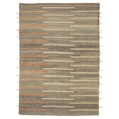 Nazmiyal Collection Geometric Modern Distressed Rug. 9 ft 10 in x 14 ft 1 in