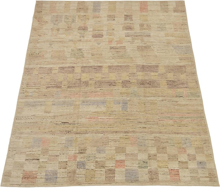 Contemporary Nazmiyal Collection Geometric Modern Distressed Rug. 9 ft 3 in x 11 ft 9 in  For Sale