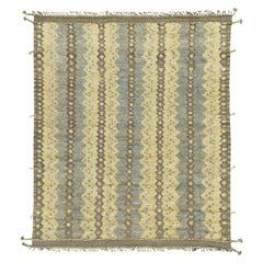 Nazmiyal Collection Geometric Modern Distressed Rug 9 ft 6 in x 11 ft 10 in