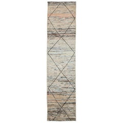 Nazmiyal Collection Geometric Modern Moroccan Style Runner 2ft 8in x 10ft 10in