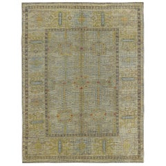 Nazmiyal Collection Geometric Modern Turkish Oushak Rug 5 ft 2 in x 6 ft 8 in