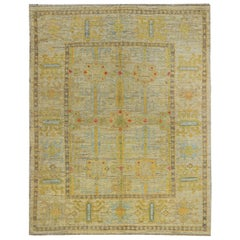 Nazmiyal Collection Geometric Modern Turkish Oushak Rug 5 ft 4 in x 6 ft 7 in