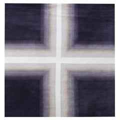 Nazmiyal Collection Geometric Purple Mid Century Modern Rug 6 ft x 6 ft 1 in