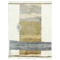 Nazmiyal Collection Green And Gray Modern Boho Chic Rug. Size: 8 ft x 10 ft 1 in