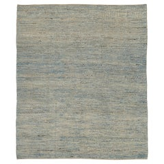 Nazmiyal Collection Grey Textured Modern Distressed Rug. 9 ft 8 in x 11 ft 8 in
