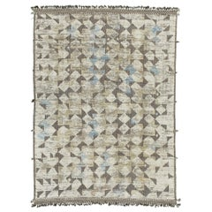 Nazmiyal Collection High Low Pile Modern Distressed Rug 9 ft 9 in x 13 ft 11 in