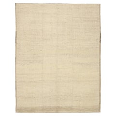 Nazmiyal Collection Ivory Color Modern Moroccan Style Rug. 9 ft 7 in x 12 ft