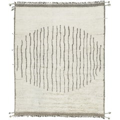 Nazmiyal Collection Ivory Modern Boho Chic Rug 9 ft 3 in x 11 ft 11 in