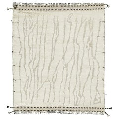 Nazmiyal Collection Ivory Textured Modern Boho Chic Rug 8 ft 6 in x 10 ft 1 in