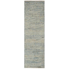 Nazmiyal Collection Light Blue Modern Moroccan Style Rug 2 ft 10 in x 8 ft 7 in