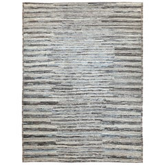 Nazmiyal Collection Light Blue Modern Moroccan Style Rug 9 ft 9 in x 12 ft 2 in