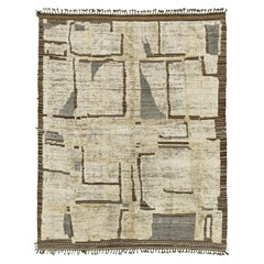 Nazmiyal Collection Modern Distressed Rug  7 ft 5 in x 9 ft 10 in