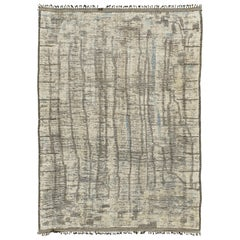 Nazmiyal Collection Modern Distressed Rug 9 ft 10 in x 14 ft 2 in