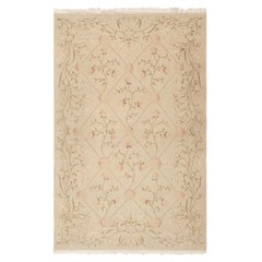 Nazmiyal Collection Modern Spanish Design Floral Romanian Rug. Size: 4 ft x 6 ft