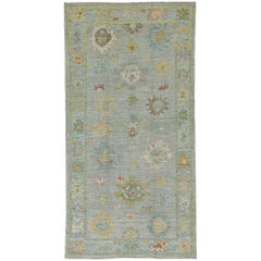 Nazmiyal Collection Modern Turkish Oushak Rug 5 ft 4 in x 10 ft 4 in
