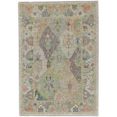 Nazmiyal Collection Modern Turkish Oushak Rug 6 ft 10 in x 9 ft 7 in