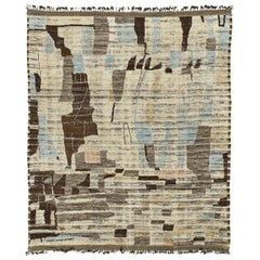 Nazmiyal Collection Nature Colors Modern Distressed Rug 12 ft 4 in x 14 ft 6 in