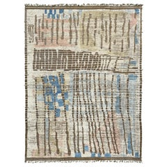 Nazmiyal Collection Nature Colors Modern Distressed Rug 9 ft 11 in x 13 ft 6 in