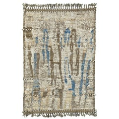 Nazmiyal Collection Nature Modern Distressed Rug 3 ft 11 in x 5 ft 10 in