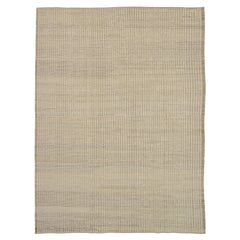 Nazmiyal Collection Neutral Modern Distressed Area Rug. 9 ft 3 in x 12 ft 3 in
