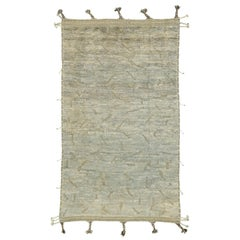 Nazmiyal Collection Primitive Design Modern Distressed Rug 5 ft 5 in x 9 ft 4 in