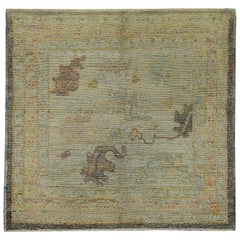 Nazmiyal Collection Small Modern Turkish Oushak Rug 5 ft 4 in x 6 ft 7 in