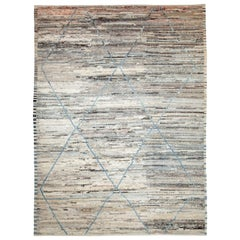 Nazmiyal Collection Soft Brown Tribal Modern Moroccan Style Rug 9ft x 12ft 3 in