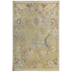 Nazmiyal Collection Soft Decorative Modern Turkish Oushak Rug 6ft 2in x 9ft 4in