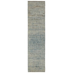 Nazmiyal Collection Soft Grey Modern Moroccan Style Rug 2 ft 9 in x 11 ft 3 in