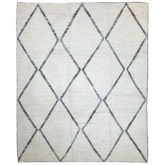 Nazmiyal Collection Soft Grey Modern Moroccan Style Rug 9 ft 7 in x 11 ft 7 in