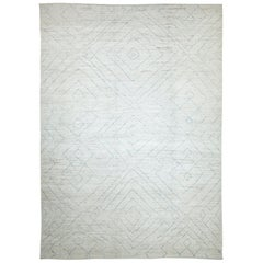 Nazmiyal Collection Soft Large Modern Moroccan Style Rug 10 ft 7 in x 14 ft