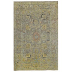 Nazmiyal Collection Soft Modern Turkish Oushak Area Rug 6 ft 8 in x 10 ft