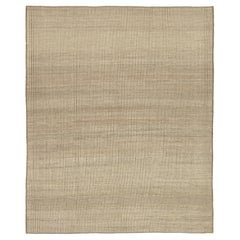 Nazmiyal Collection Soft Neutral Modern Distressed Rug  9 ft 9 in x 12 ft