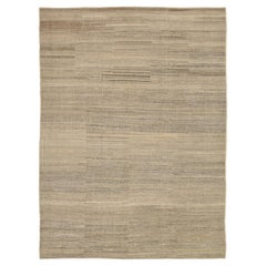Nazmiyal Collection Soft Textured Modern Distressed Rug. 9 ft 4 in x 12 ft 7 in