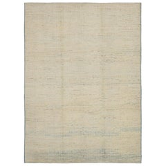 Nazmiyal Collection Taupe and Blue Modern Moroccan Style Rug 8ft 10in x 12ft 1in