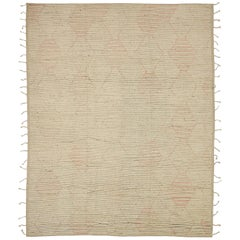 Nazmiyal Collection Taupe Geometric Modern Distressed Rug.  10 ft x 13 ft 10 in