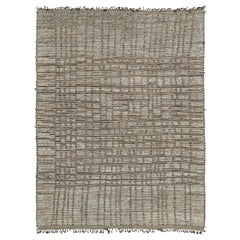 Nazmiyal Collection Textured Brown Modern Distressed Rug 10 ft 1 in x 13 ft 7 in