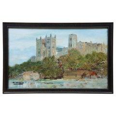 N.C. Wyeth Oil Painting University Landscape Gothic Architecture