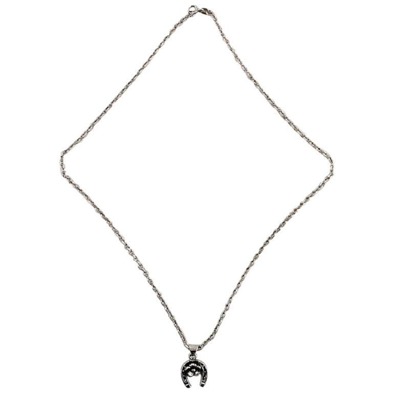 N.E. From Necklace Pendant in the Shape of a Horseshoe Sterling Silver