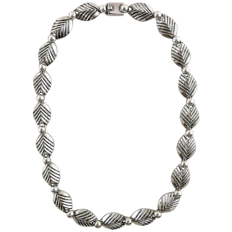 N.E. From Necklace Sterling Silver Modern Danish Design