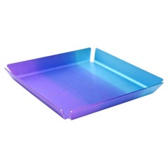 Neal Fray for Opening Ceremony Anodized Purple Turquoise Aluminum Tray Barware