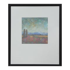 Contemporary Abstract Colorful Mountainous Landscape Painting