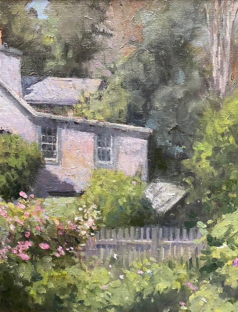 Monhegan Cottage, Maine, original marine landscape oil painting For Sale 1