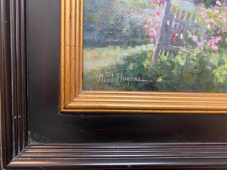 Monhegan Cottage, Maine, original marine landscape oil painting For Sale 2