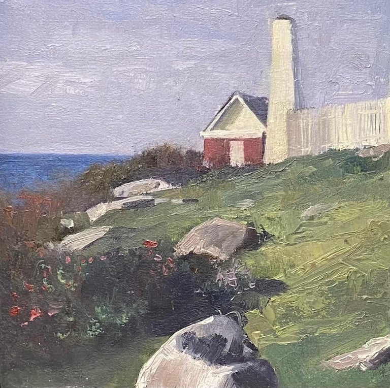 Pemquid Light is another example of a timeless marine landscape created by a noted contemporary marine painter;  there are a rare few who could manage such a feet.  Artist Neal Hughes is a Fellow of the American Society of Marine Artists having