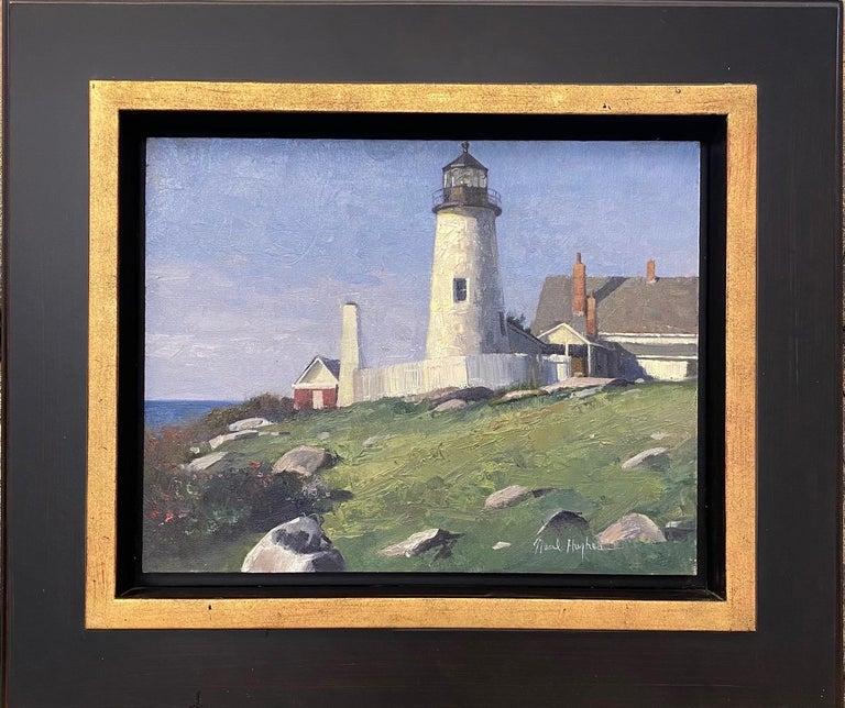 Neal Hughes Landscape Painting - Pemaquid Light, original marine landscape